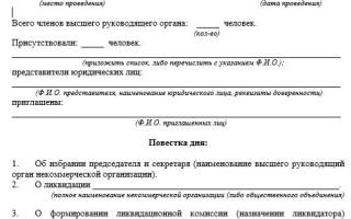 Закрытие общественной организации пошаговая инструкция