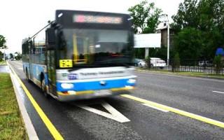 По воскресеньям можно ездить по автобусной полосе
