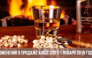 Продажа алкоголных напитков изделий в 2019 году закон
