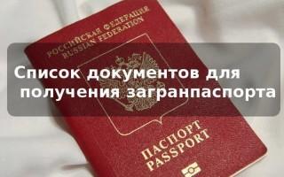 Какие документы нужно предоставить для загран паспорта старого образца