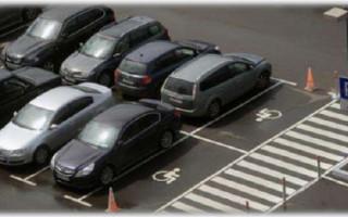 Парковка для инвалидов норматива